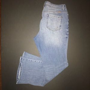 Inc Denim, light blue bootleg, curvy fit